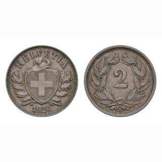 2 Rappen 1927 B Schweiz