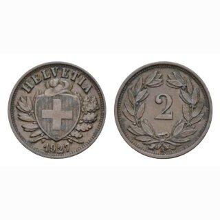 2 Rappen 1928 B Schweiz