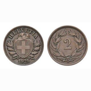 2 Rappen 1929 B Schweiz