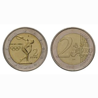 Griechenland 2 Euro 2004 Olympiade Athen Gedenkmünze