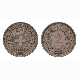 2 Rappen 1941 B Schweiz