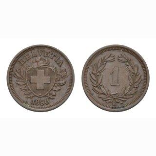 1 Rappen 1890 B Schweiz