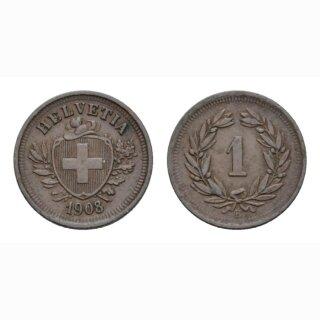 1 Rappen 1908 B Schweiz