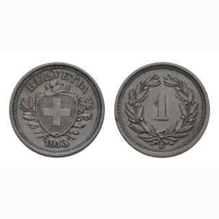 1 Rappen 1913 B Schweiz
