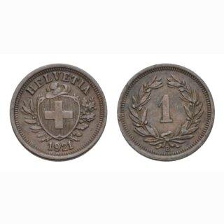 1 Rappen 1921 B Schweiz