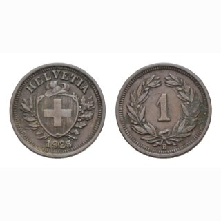 1 Rappen 1924 B Schweiz