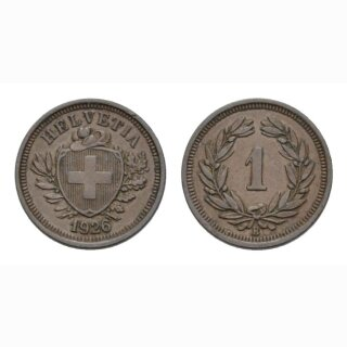 1 Rappen 1926 B Schweiz