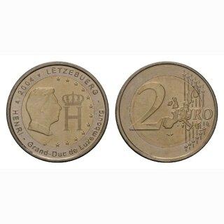 Luxemburg 2 Euro 2004 Monogramm Gedenkmünze