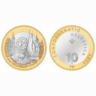 Schweiz 10 Franken 2014 B Sursee