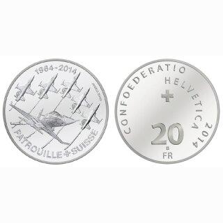 Schweiz 20 Franken 2014 B Patroullie Suisse