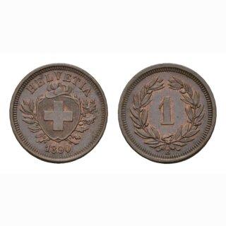 Schweiz 1 Rappen 1890 B