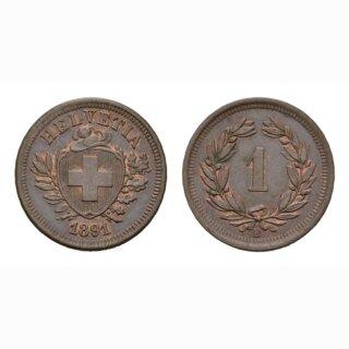 Schweiz 1 Rappen 1891 B (br)
