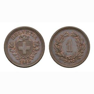 Schweiz 1 Rappen 1894 B
