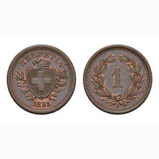 Schweiz 1 Rappen 1895 B