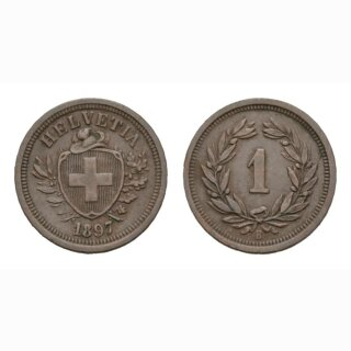 Schweiz 1 Rappen 1897 B