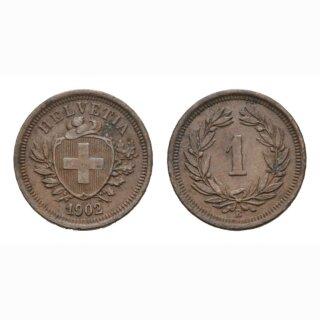 Schweiz 1 Rappen 1902 B