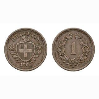 Schweiz 1 Rappen 1905 B