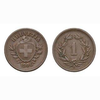 Schweiz 1 Rappen 1906 B