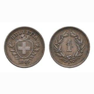 Schweiz 1 Rappen 1909 B