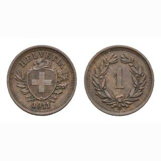Schweiz 1 Rappen 1911 B