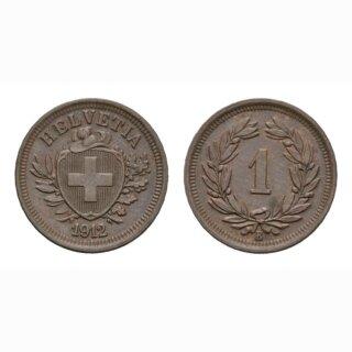 Schweiz 1 Rappen 1912 B