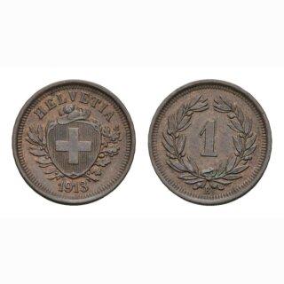 Schweiz 1 Rappen 1913 B
