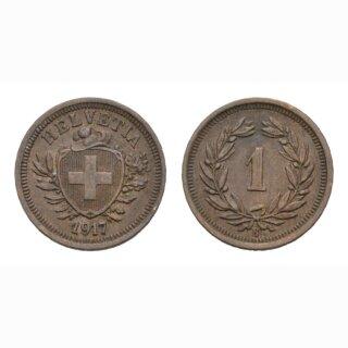 Schweiz 1 Rappen 1917 B
