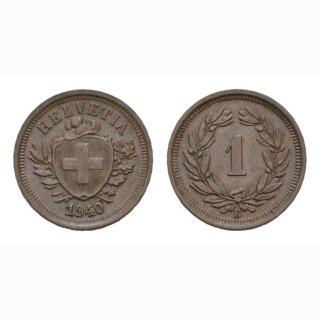 Schweiz 1 Rappen 1940 B