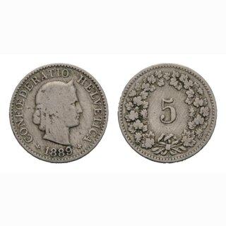 5 Rappen 1889 B Schweiz