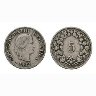 5 Rappen 1902 B Schweiz
