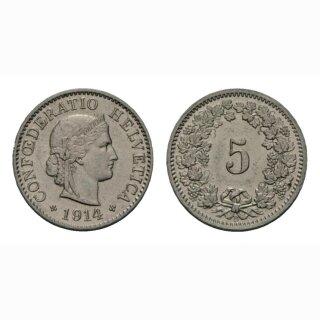 5 Rappen 1914 B Schweiz
