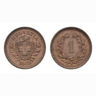 Schweiz 1 Rappen 1880 B