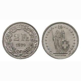 2 Franken 1939 B Schweiz
