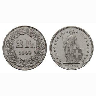 2 Franken 1940 B Schweiz