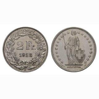 2 Franken 1928 B Schweiz