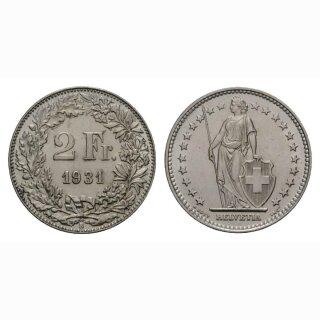 2 Franken 1931 B Schweiz