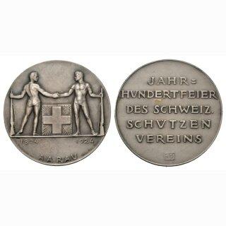 1924 Eidg. Schützenfest Aarau Silber Ri 45a