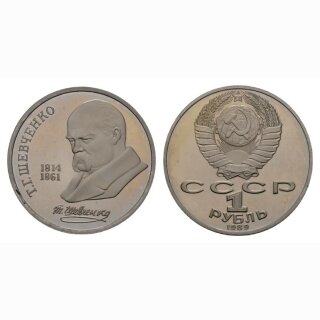 Russland 1 Rubel 1989 T. G. Shevchenko