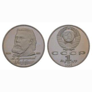 Russland 1 Rubel 1989 Musorgyky