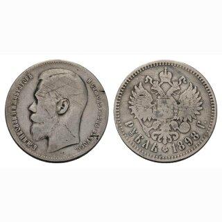 Russland 1 Rubel 1898 Silber