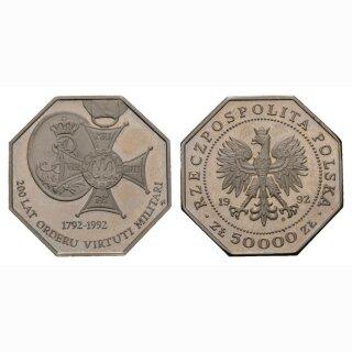 Polen 50000 Zloty 1992 200 Jahre Militär
