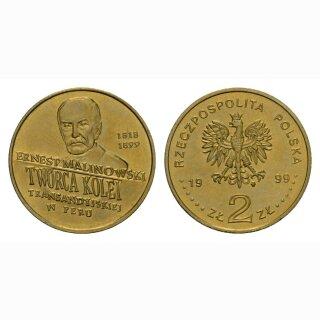 Polen 2 Zloty 1998 Ernest Malinowski