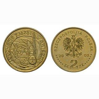 Polen 2 Zloty 2000 Münze