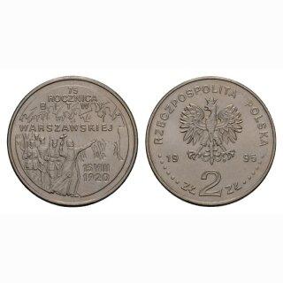 Polen 2 Zloty 1995 75 Jahrestag Schacht bei Warschau