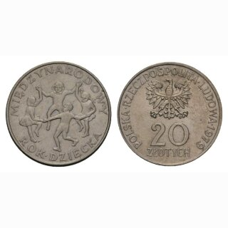 Polen 20 Zloty 1979 Kinderhar