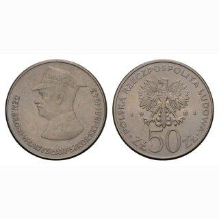 Polen 50 Zloty 1981 General Broni Wladyslaw
