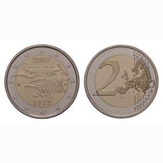 Finnland 2 Euro 2007 90 Jahre Unabhängigkeit Gedenkmünze