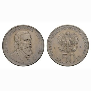 Polen 50 Zloty 1983 Ignacy Lukasiewic