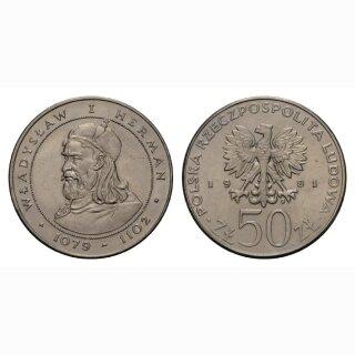 Polen 50 Zloty 1981 Wladyslaw I