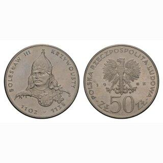 Polen 50 Zloty 1982 Boleslaw III